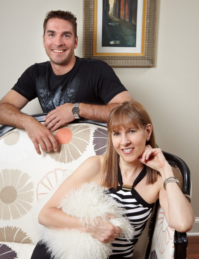 Brian Manley and Marian Silverman. Founders of Pillows by Dezign a custom decorative pillow fabricator for hospitality, commercial and residential interior design projects.